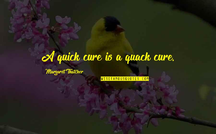 Quacks Quotes By Margaret Thatcher: A quick cure is a quack cure.