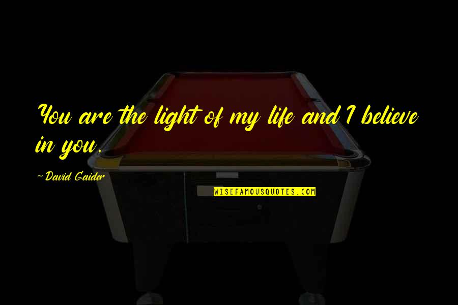 Queen And Throne Quotes By David Gaider: You are the light of my life and