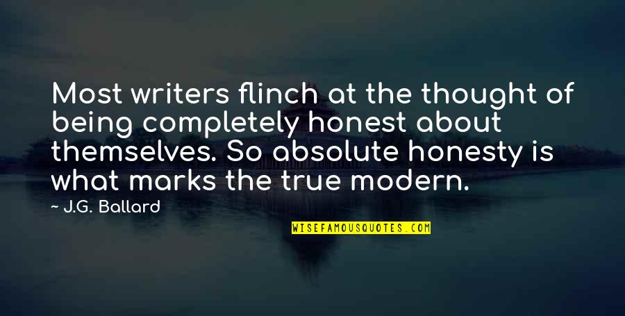 Queen And Throne Quotes By J.G. Ballard: Most writers flinch at the thought of being