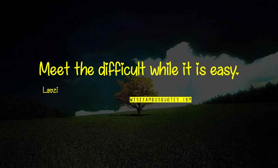 Querida Abuela Quotes By Laozi: Meet the difficult while it is easy.