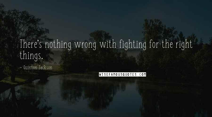 Quinton Jackson quotes: There's nothing wrong with fighting for the right things.