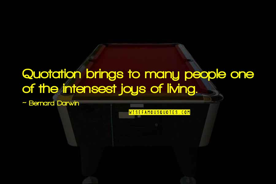 Quotation Within Quotes By Bernard Darwin: Quotation brings to many people one of the