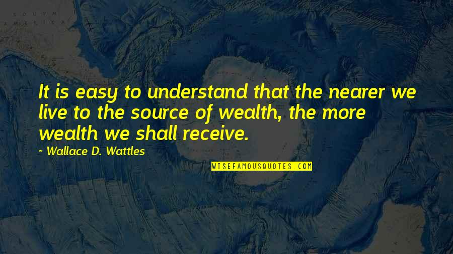 Quotes 12th Night Quotes By Wallace D. Wattles: It is easy to understand that the nearer