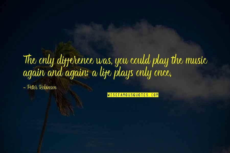 Quotes Coen Quotes By Peter Robinson: The only difference was, you could play the