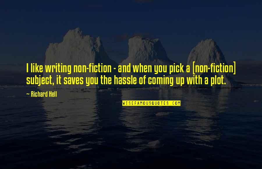 Quotes Elena Undone Quotes By Richard Hell: I like writing non-fiction - and when you