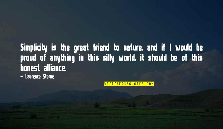 Quotes Hitchens Religion Quotes By Laurence Sterne: Simplicity is the great friend to nature, and
