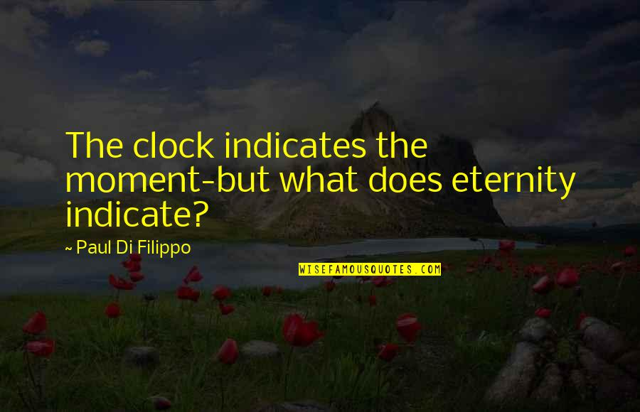 Quotes Hitchens Religion Quotes By Paul Di Filippo: The clock indicates the moment-but what does eternity