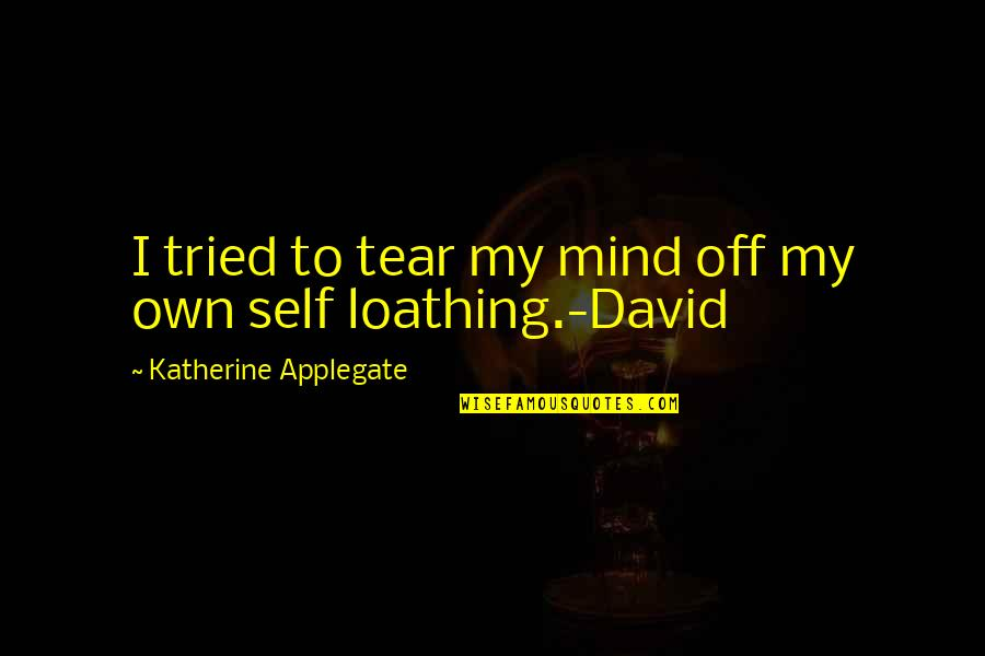 Quotes Mandarin Chinese Quotes By Katherine Applegate: I tried to tear my mind off my