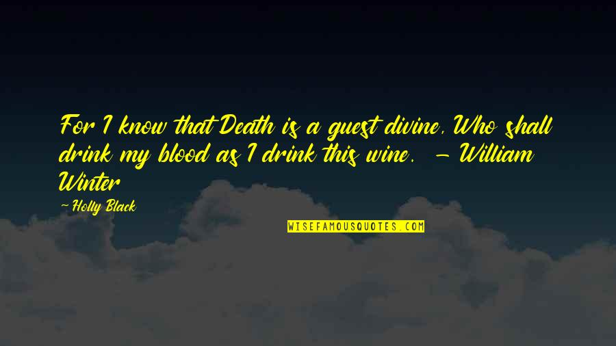 Quotes Paranormalcy Quotes By Holly Black: For I know that Death is a guest