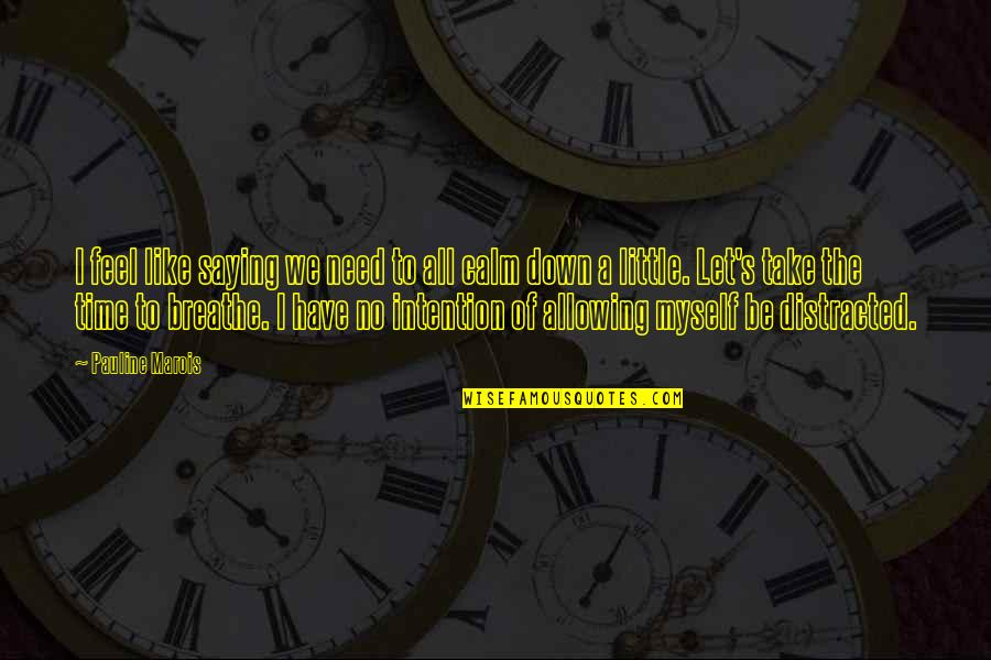 Quotes Refuse To Sink Quotes By Pauline Marois: I feel like saying we need to all