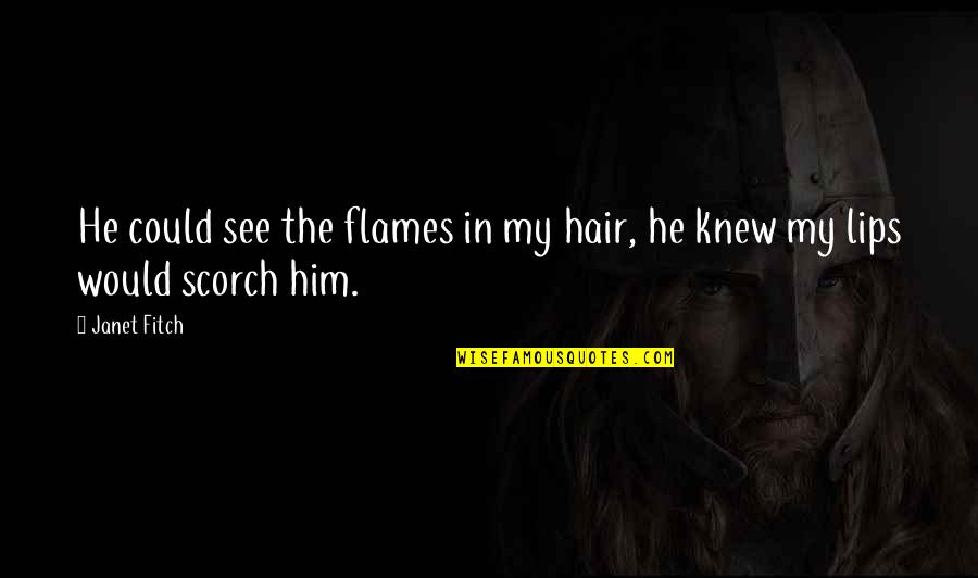Quotes Spartacus Blood And Sand Quotes By Janet Fitch: He could see the flames in my hair,