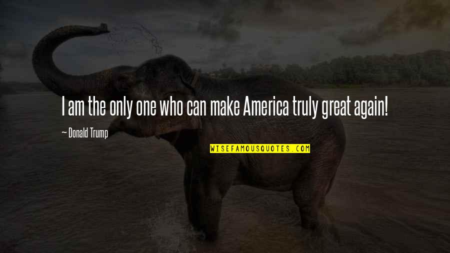 Quotes Srpski Quotes By Donald Trump: I am the only one who can make