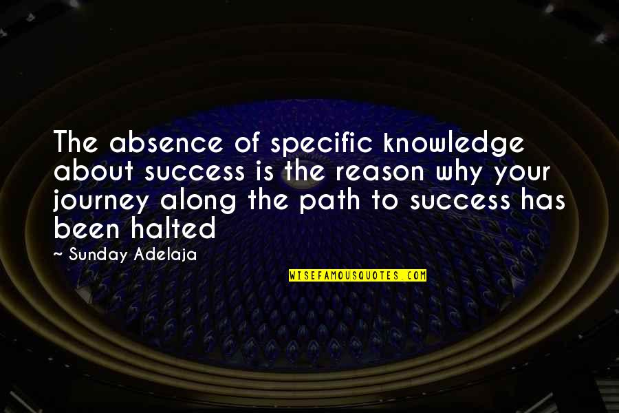 Quotes Urdu Sms Quotes By Sunday Adelaja: The absence of specific knowledge about success is