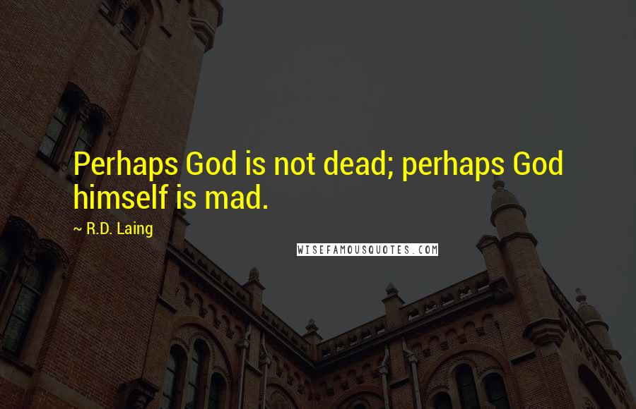 R.D. Laing quotes: Perhaps God is not dead; perhaps God himself is mad.