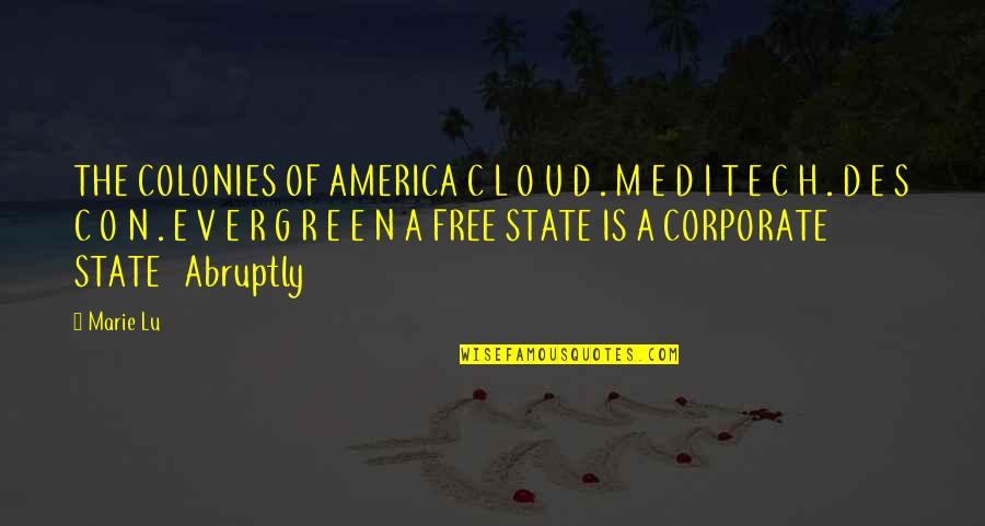 R.h Quotes By Marie Lu: THE COLONIES OF AMERICA C L O U