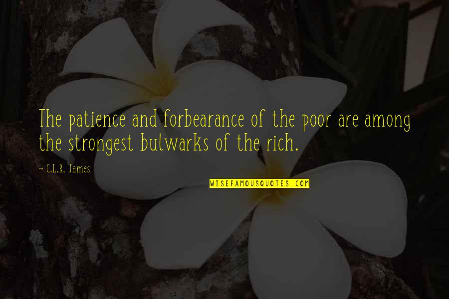R&l Quotes By C.L.R. James: The patience and forbearance of the poor are