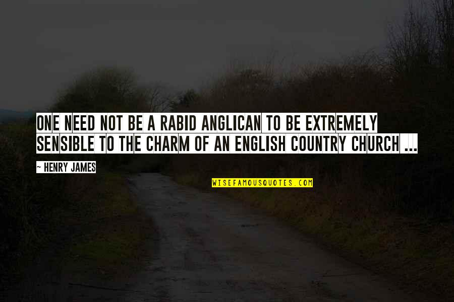 Rabid Quotes By Henry James: One need not be a rabid Anglican to