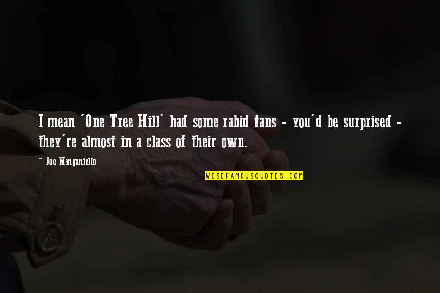 Rabid Quotes By Joe Manganiello: I mean 'One Tree Hill' had some rabid