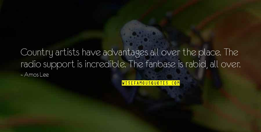 Rabid's Quotes By Amos Lee: Country artists have advantages all over the place.