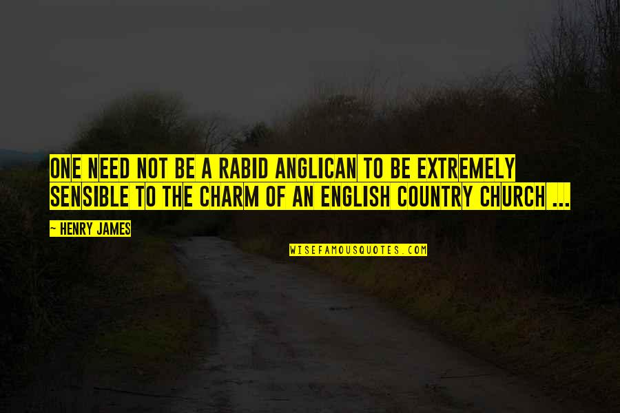 Rabid's Quotes By Henry James: One need not be a rabid Anglican to