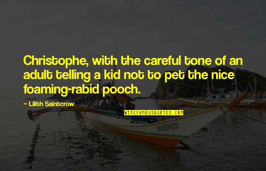 Rabid's Quotes By Lilith Saintcrow: Christophe, with the careful tone of an adult
