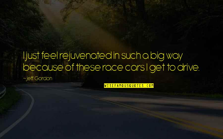 Race Car Quotes By Jeff Gordon: I just feel rejuvenated in such a big