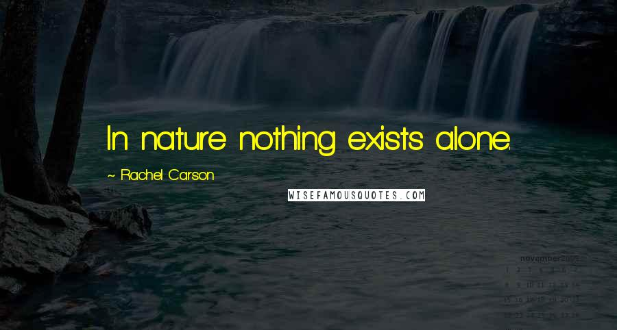 Rachel Carson quotes: In nature nothing exists alone.