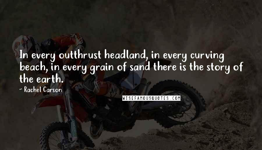 Rachel Carson quotes: In every outthrust headland, in every curving beach, in every grain of sand there is the story of the earth.