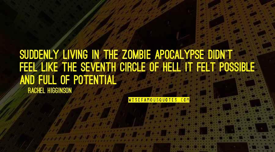Rachel Higginson Quotes By Rachel Higginson: Suddenly living in the Zombie apocalypse didn't feel