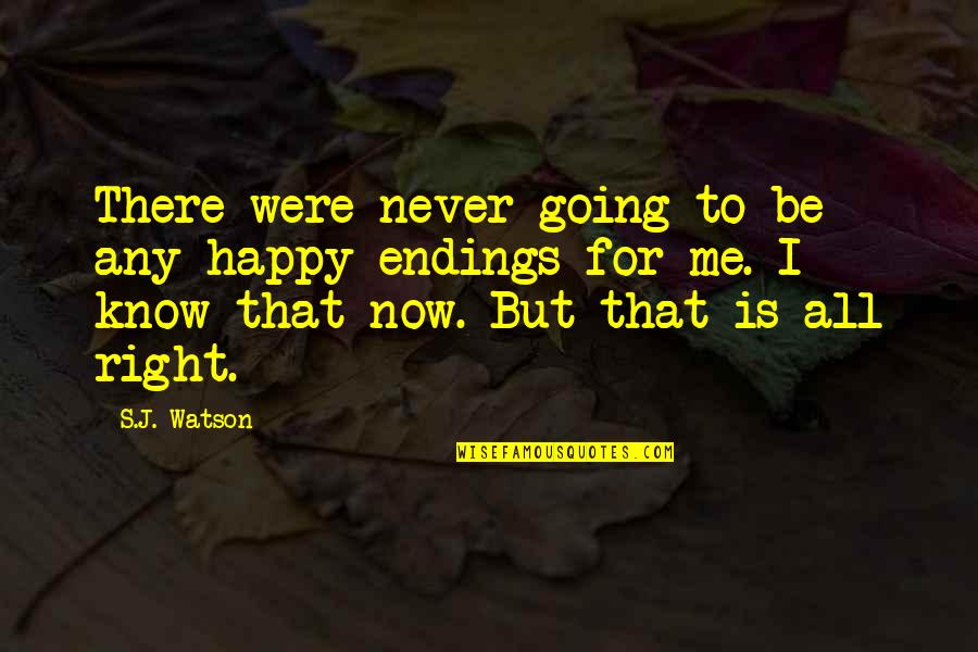 Racialized Quotes By S.J. Watson: There were never going to be any happy