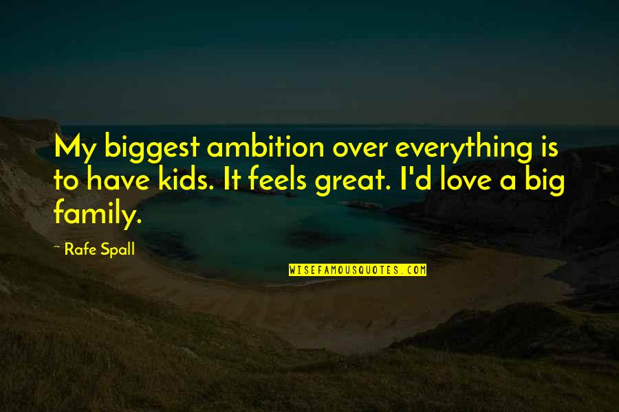 Rafe Quotes By Rafe Spall: My biggest ambition over everything is to have
