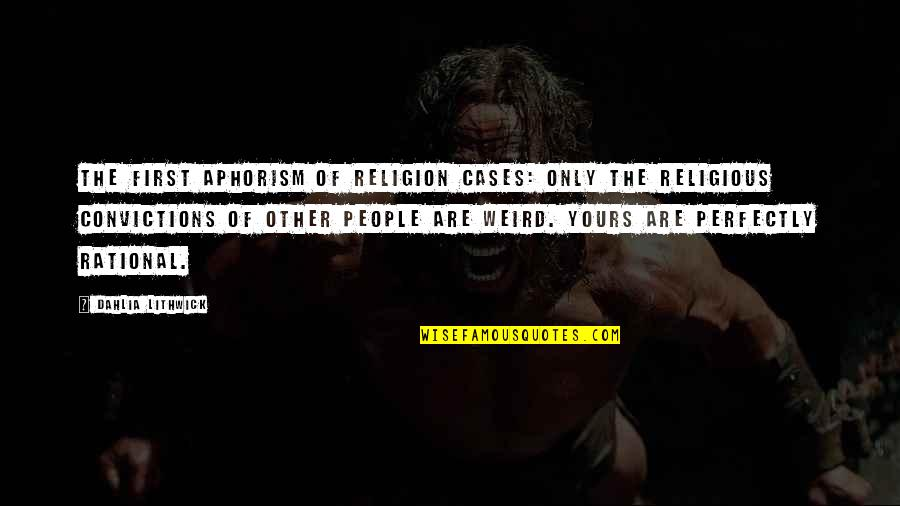 Ragen Quotes By Dahlia Lithwick: The First Aphorism of Religion Cases: Only the