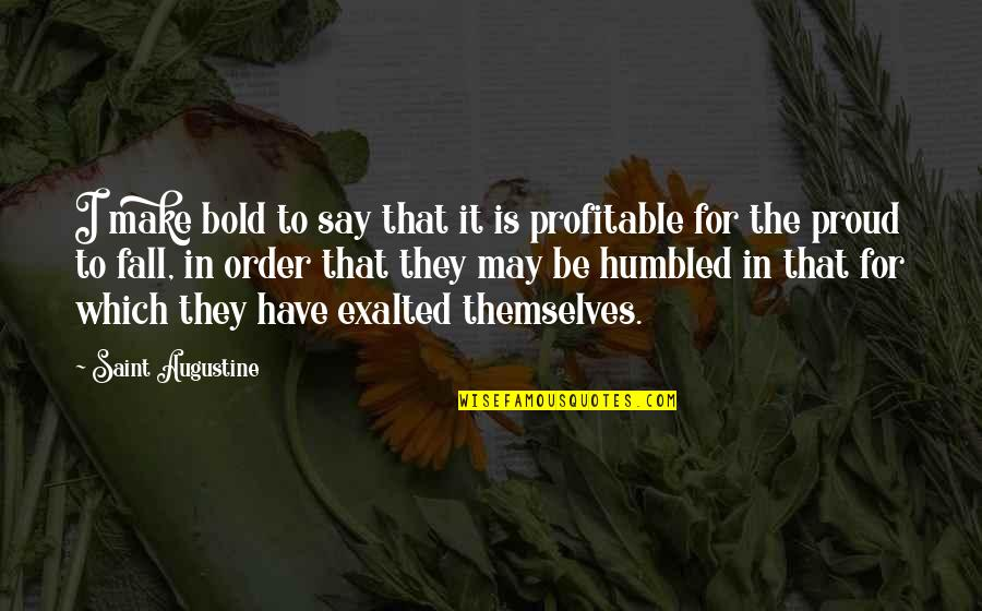 Raghnaid Quotes By Saint Augustine: I make bold to say that it is