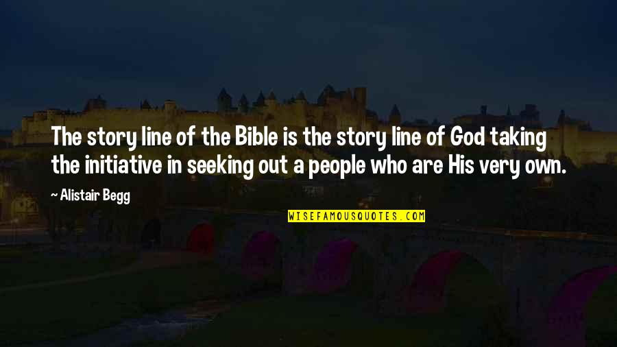 Railings Quotes By Alistair Begg: The story line of the Bible is the