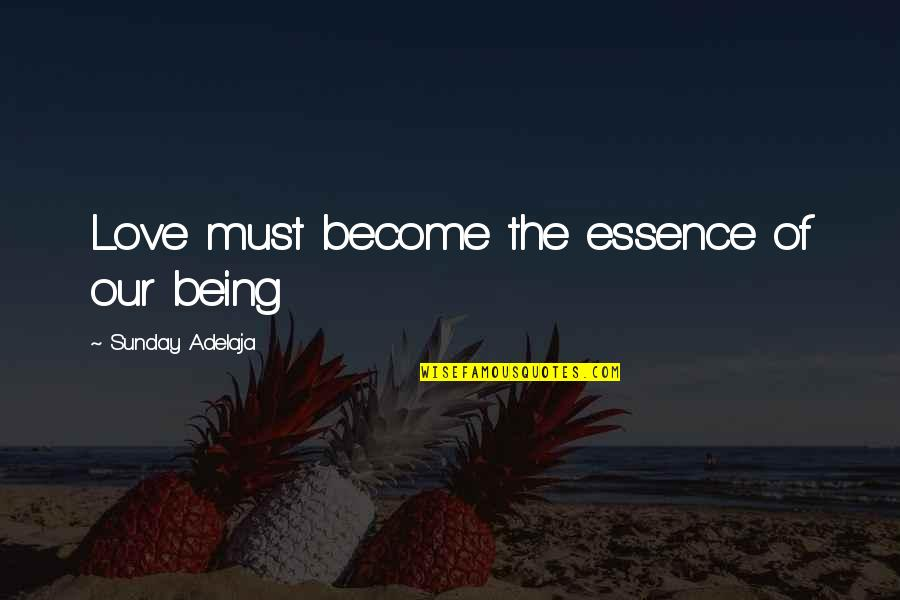 Rainwater Sandra Brown Quotes By Sunday Adelaja: Love must become the essence of our being