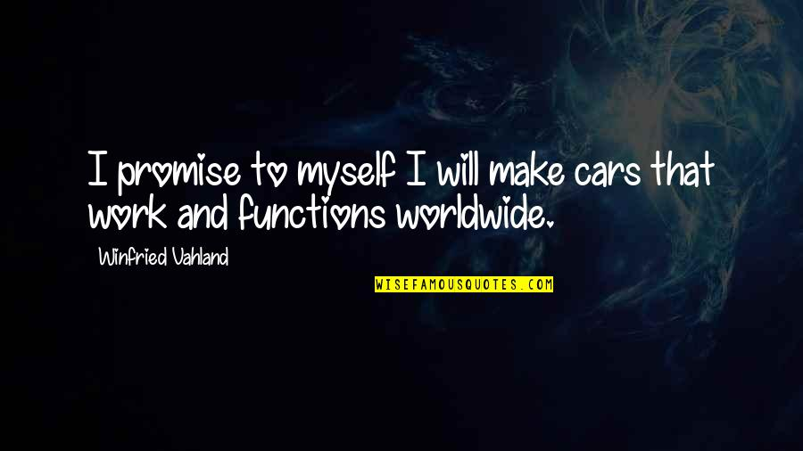 Rainy Weather Love Quotes By Winfried Vahland: I promise to myself I will make cars