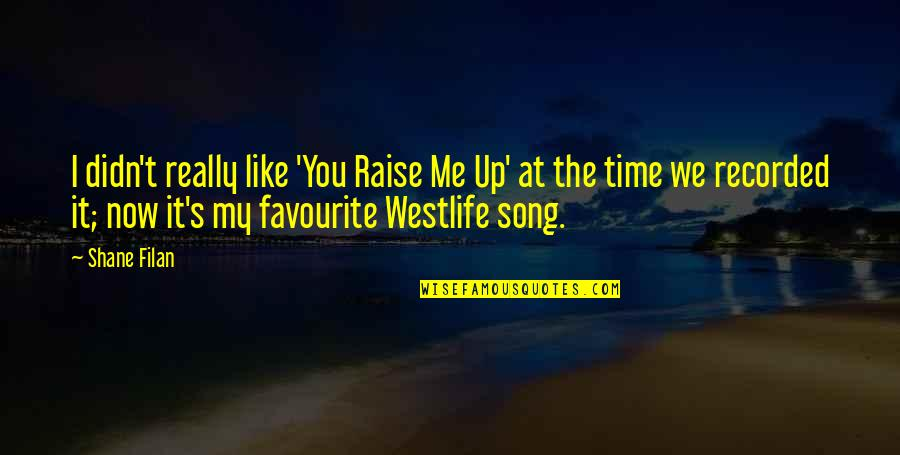 Raise Up Quotes By Shane Filan: I didn't really like 'You Raise Me Up'