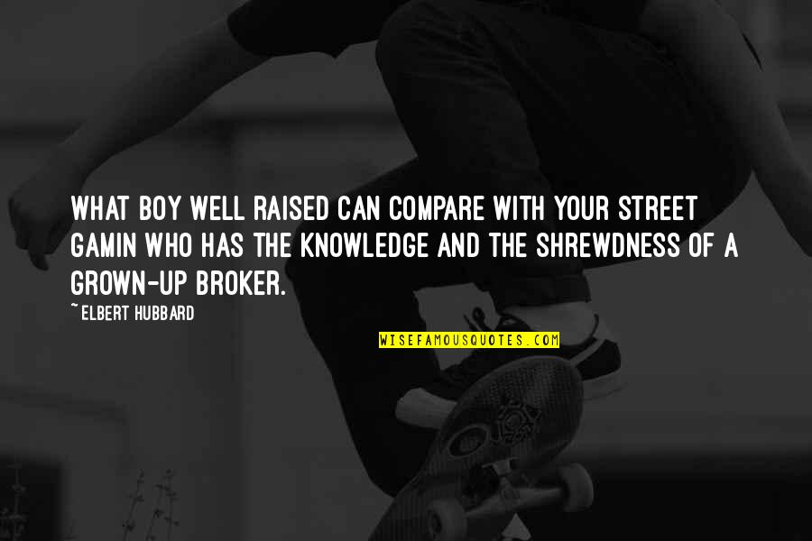 Raised Up Quotes By Elbert Hubbard: What boy well raised can compare with your