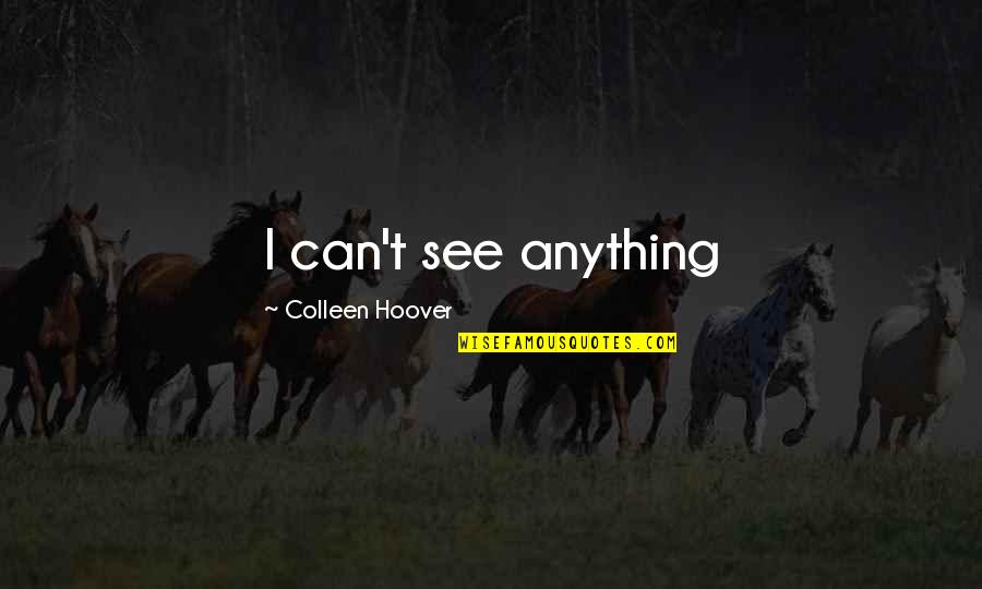 Raisin In The Sun God Quotes By Colleen Hoover: I can't see anything