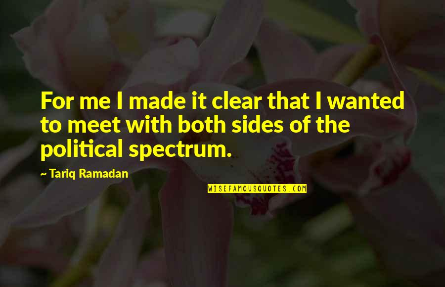 Ramadan Quotes By Tariq Ramadan: For me I made it clear that I