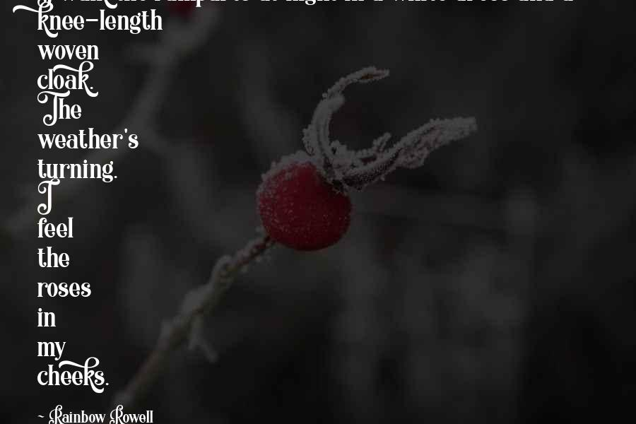 Ramparts Quotes By Rainbow Rowell: I walk the ramparts at night in a