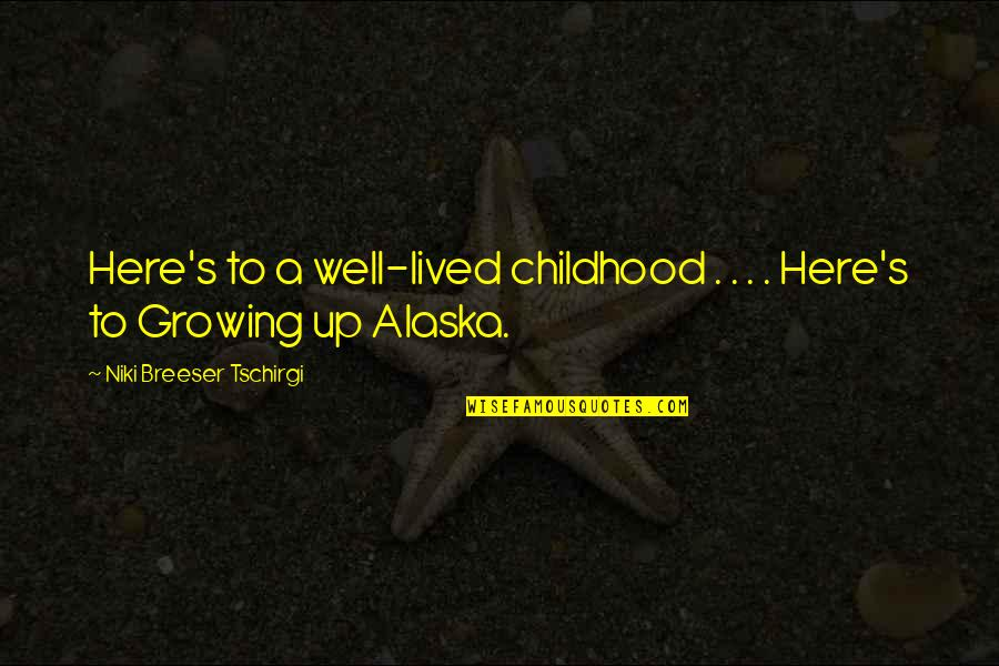 Random Clicks Quotes By Niki Breeser Tschirgi: Here's to a well-lived childhood . . .