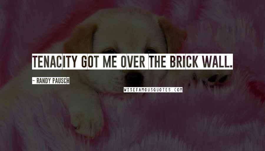 Randy Pausch quotes: Tenacity got me over the brick wall.