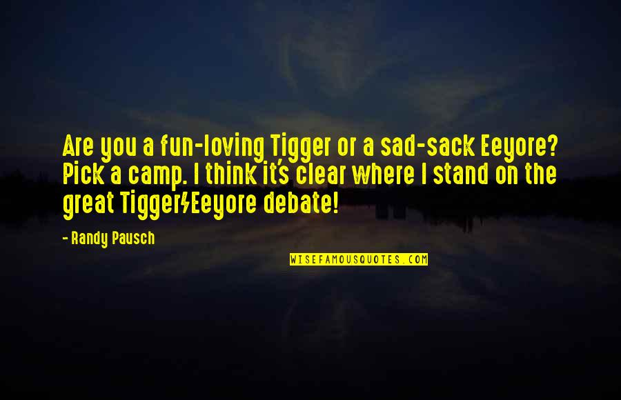 Randy Pausch Quotes By Randy Pausch: Are you a fun-loving Tigger or a sad-sack