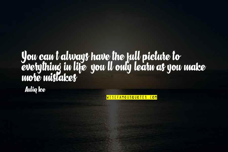 Ranzo Quotes By Auliq Ice: You can't always have the full picture to