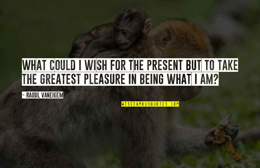 Raoul Vaneigem Quotes By Raoul Vaneigem: What could I wish for the present but