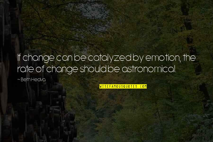 Rate Of Change Quotes By Beth Hedva: If change can be catalyzed by emotion, the