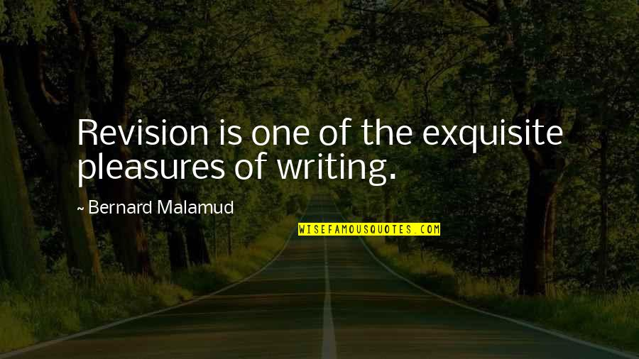 Re Revision Quotes By Bernard Malamud: Revision is one of the exquisite pleasures of