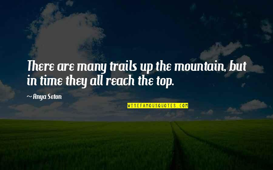 Reach Up Quotes By Anya Seton: There are many trails up the mountain, but