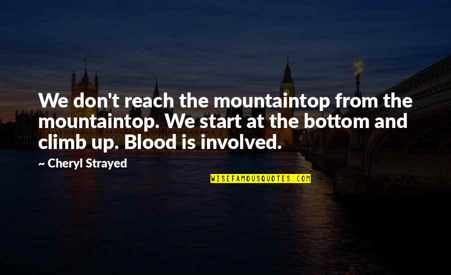 Reach Up Quotes By Cheryl Strayed: We don't reach the mountaintop from the mountaintop.